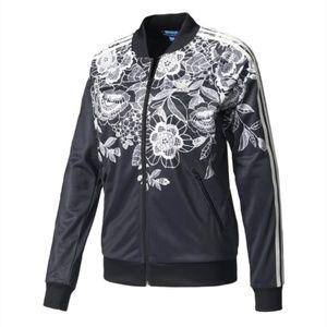 Adidas x Farm Rio Black Floral Lace Jacket | S